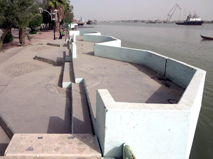 A scenic Corniche promenade runs along the Shatt Al Arab River at Basra, Iraq. The Arabian Nights folk hero Sinbad the Sailor set out on his adventures from Basra.