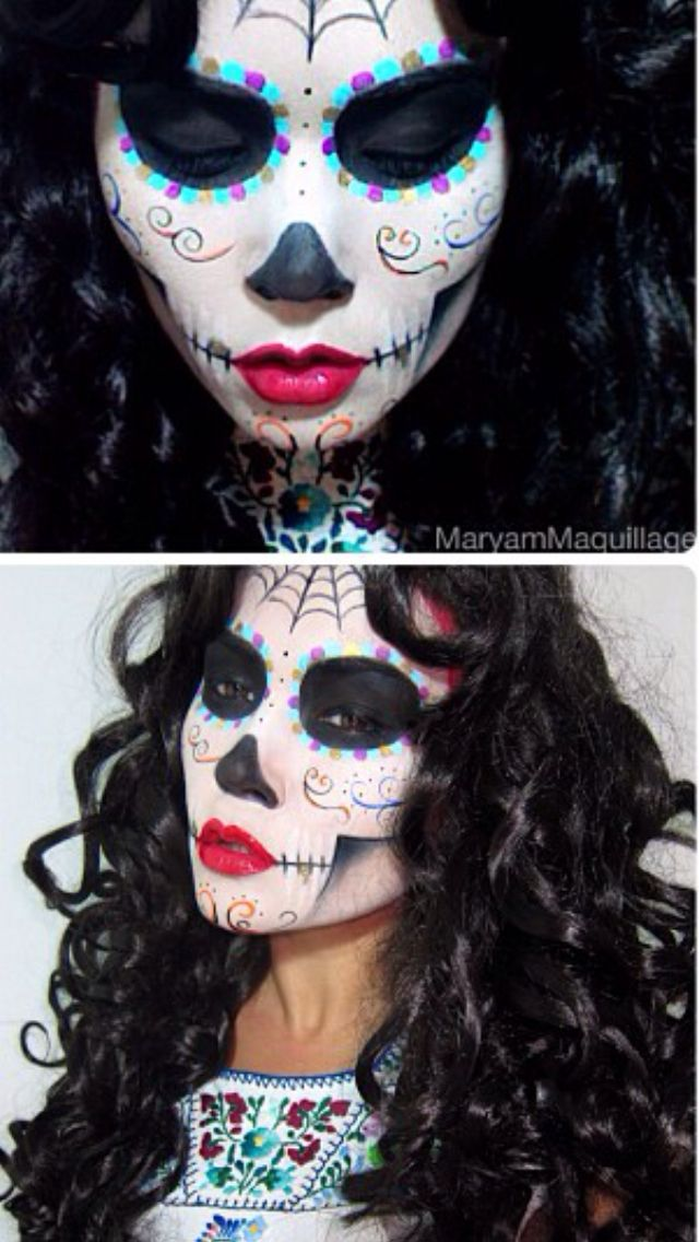 Sugar Skull Makeup @MaryAmMaquillage