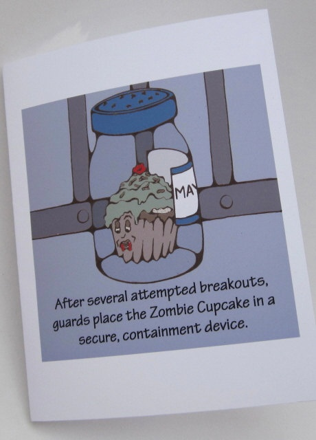 Nothing can hold a Zombie Cupcake