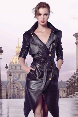 marine vacth la parisienne publicit pour le parfum ysl girls pinterest manteaux. Black Bedroom Furniture Sets. Home Design Ideas