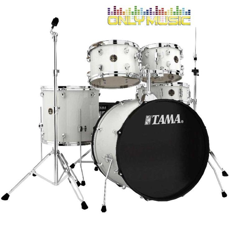 Batería Tama 5 Piezas Blanca Mate Rhythm
