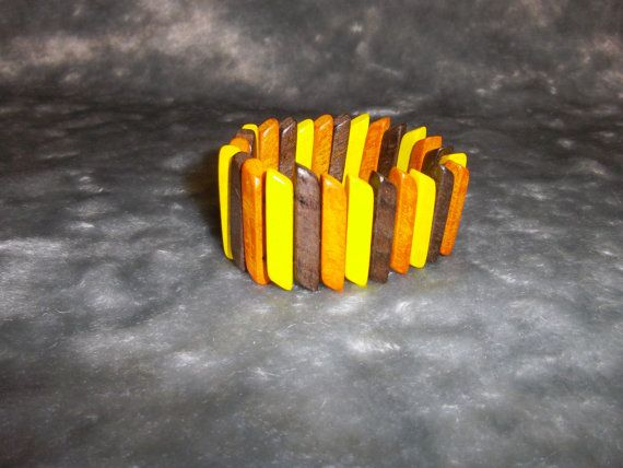 Bracelet  Jewelry Woodworking Wooden by HandMadeAndAntique on Etsy