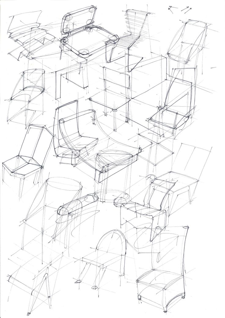 Chair ideation exercise for Design Visualization Delft University of Technology