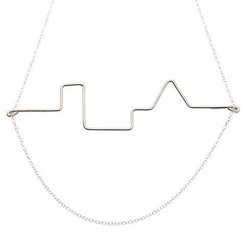 Malene Glintborg, Skyline, halskæde, sølv