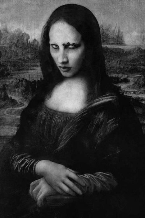 manson lisa -- Mona Lisa Parodies #Joconde
