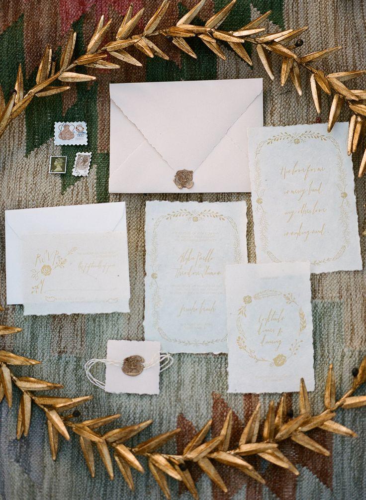 Semi-Custom Wedding Stationery - Desert Princess Suite by LeLeChanDesigns on Etsy