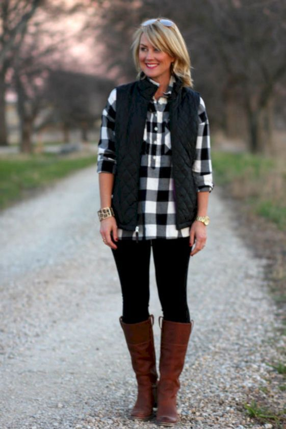 Elegant Buffalo Check Outfit For Women Look More Beautiful 310