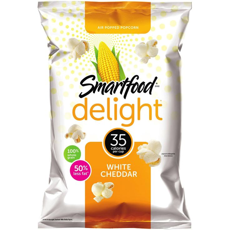 smartfood snacks white cheddar popcorn
