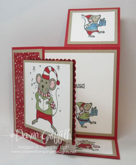 Hi Stampers,  Today we will be making this beautiful Christmas card using the Dutch fold base . I had posted the Dutch Fold video 1st HERE a couple years ago   but when making Patty's birthday card I