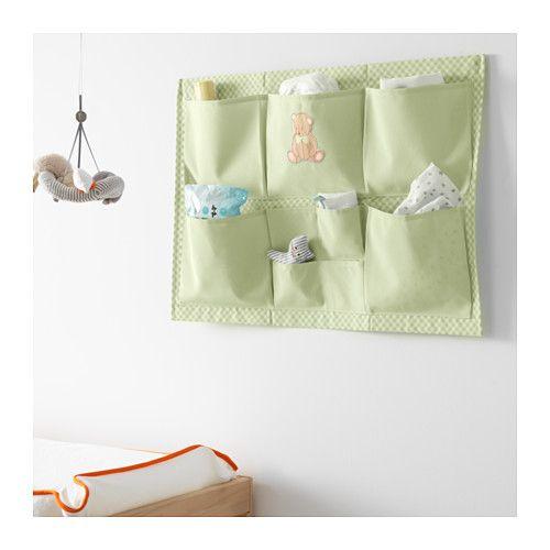 Nanig portaoggetti da parete verde chiaro portaoggetti for Fasciatoio parete ikea