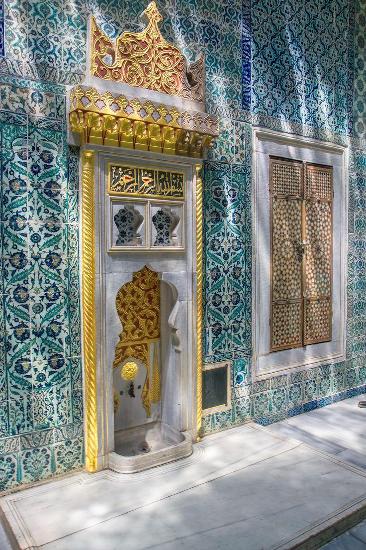 Fountain inside the harem of the Topkapi Palace.. Turkey