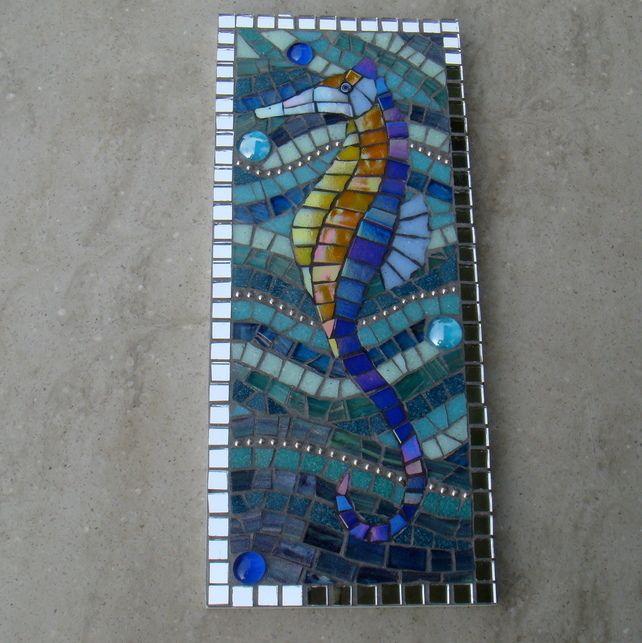 Mosaic Seahorse Wall Plaque  £55.00