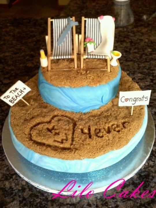 78 best Beach Wedding Cakes images on Pinterest   Beach wedding ...