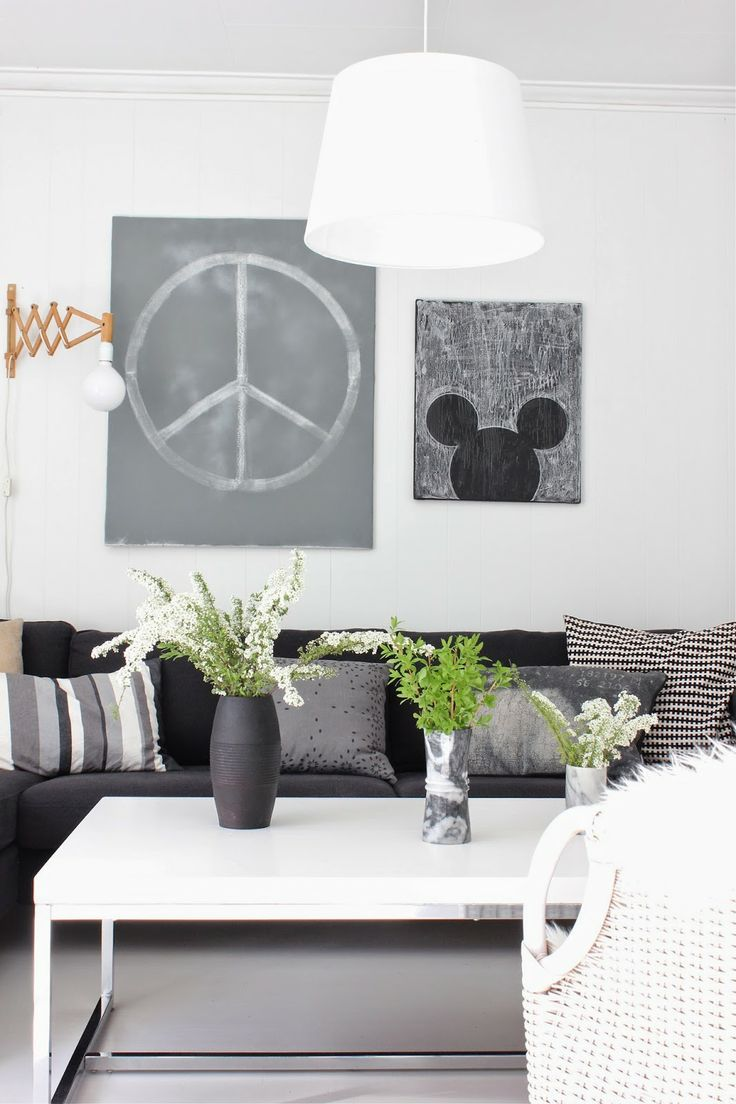 ☆ and maybe I could go with grey instead of white for the sofa. Easier to keep clean . . .