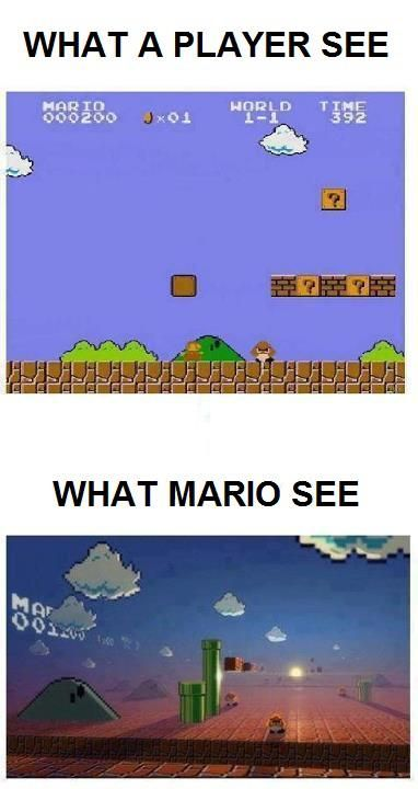 What Mario sees.... Best of #Videogames