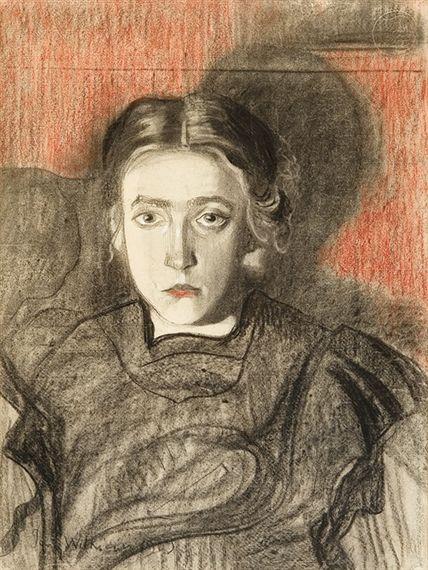 Artwork by Stanislaw Ignacy Witkiewicz, Portrait of Eugenia Dunin-Borkowska