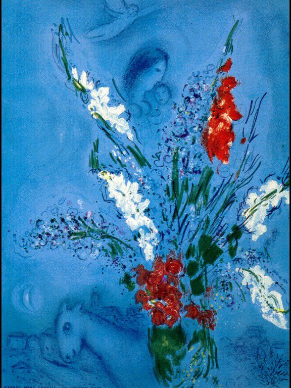 The Gladiolas - Marc Chagall