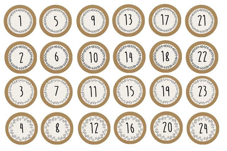 Numéros pour calendrier de l'Avent Père Noël à trotinette