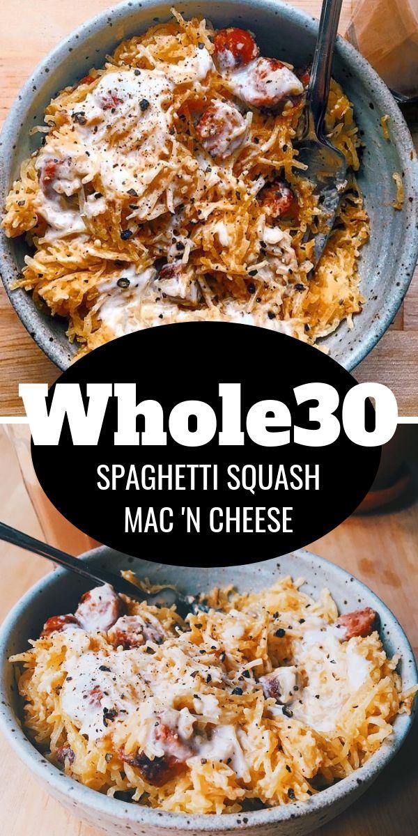 Whole30 Spaghetti Squash Mac and Cheese