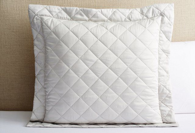 Elido Quilted Euro Sham, Silver