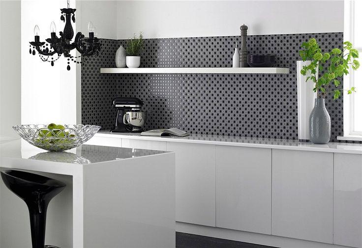 Desain Keramik Dapur Dengan Warna Monochrome Hitamputih