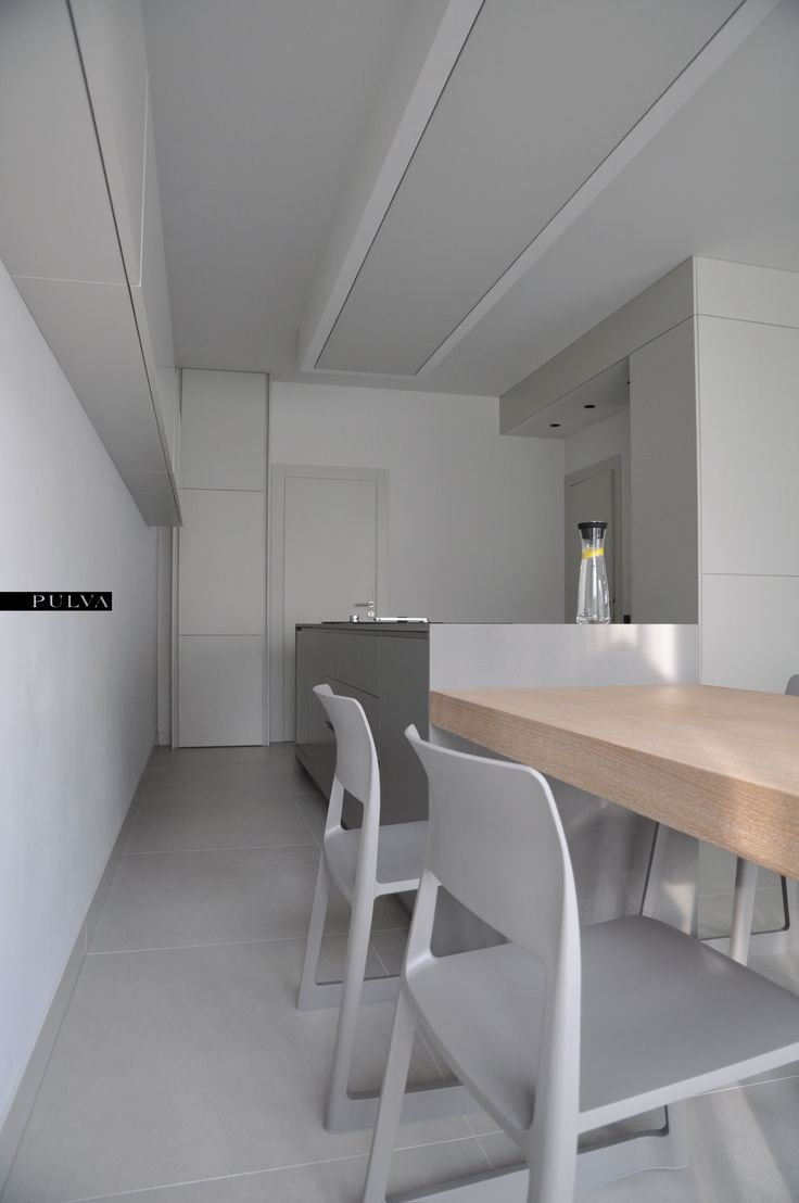 minimalistic interior design, living room, kitchen, Vitra