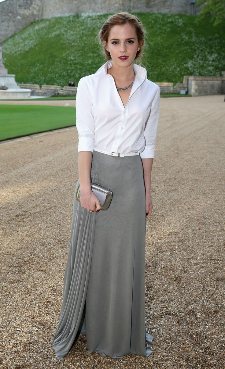 pared down formal   emma watson   tres chic
