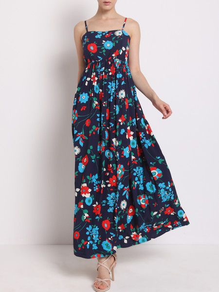 Floral-print Textured Stretch Cotton Maxi Dress #sunshine #vacation #beach #fashion
