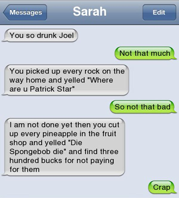 best drunk texts patrick star The 25 Best Drunk Texts Ever