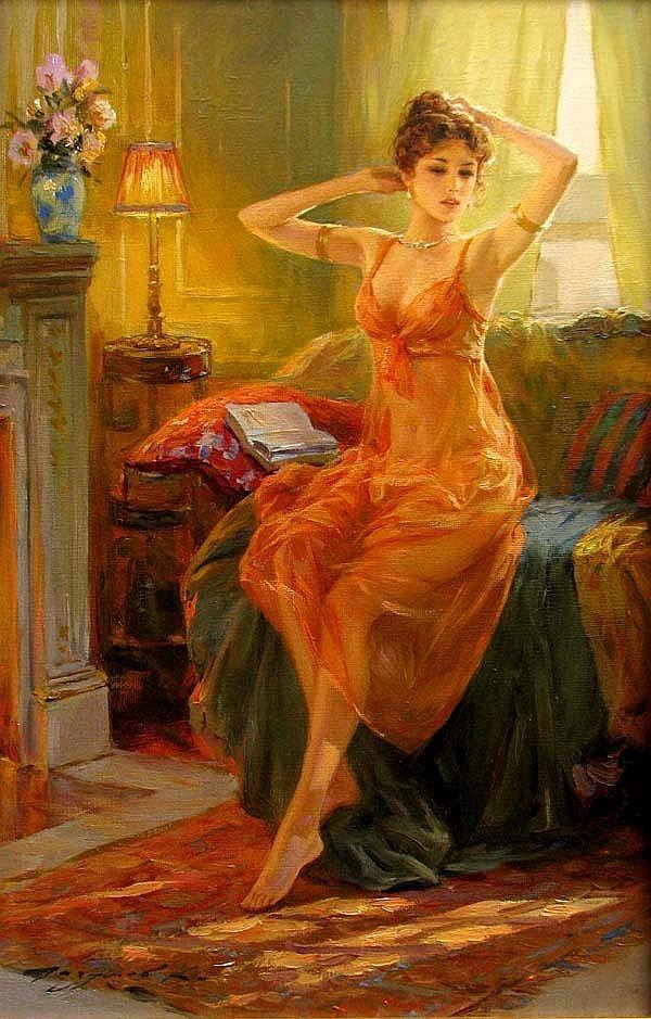 //Konstantin Razumov #art #painting #woman