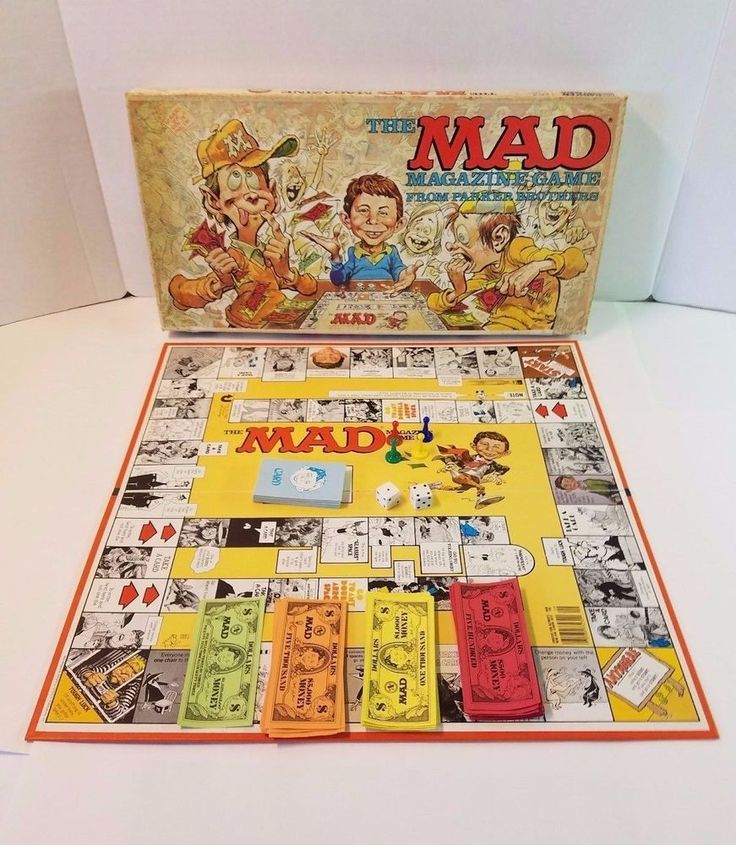 Vtg 1970s The MAD Magazine Alfred E Neuman Spy Vs Spy Board Game Complete Comedy #ParkerBrothers