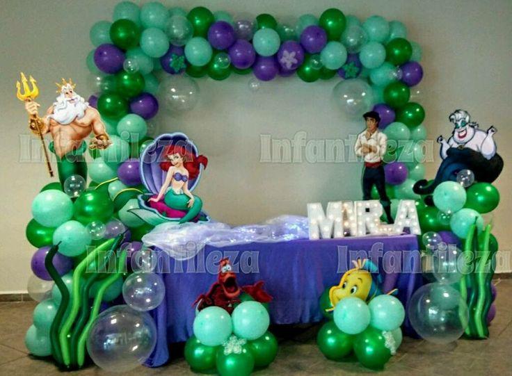 Little Mermaid balloon decor