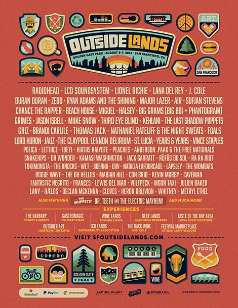 Outside Lands Lineup!