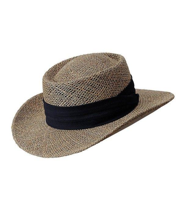 3b0895eb8105a Seagrass Caribbean Gambler Hat by Brown C512G227STR - Hats   Caps