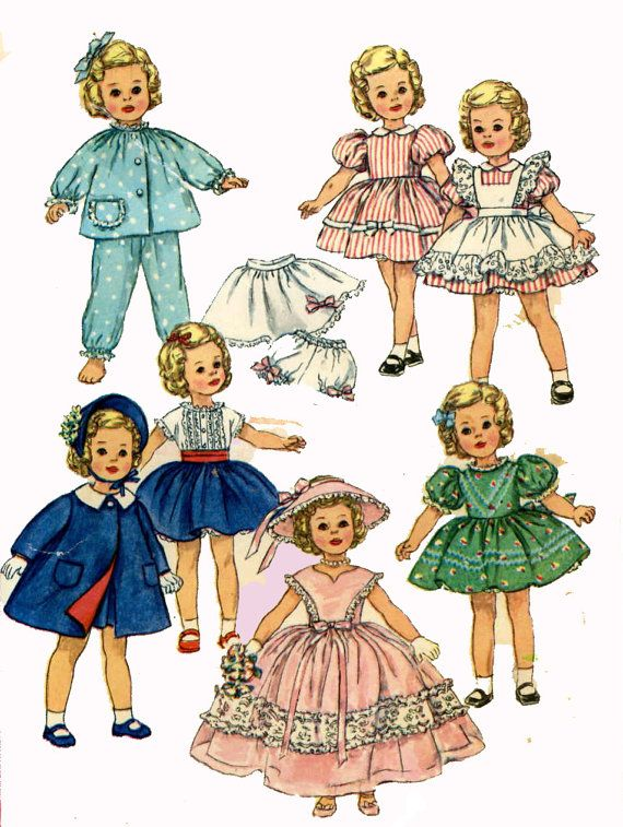 Vintage Doll Clothes PATTERN 3217 for 15 in by BlondiesSpot, $9.99