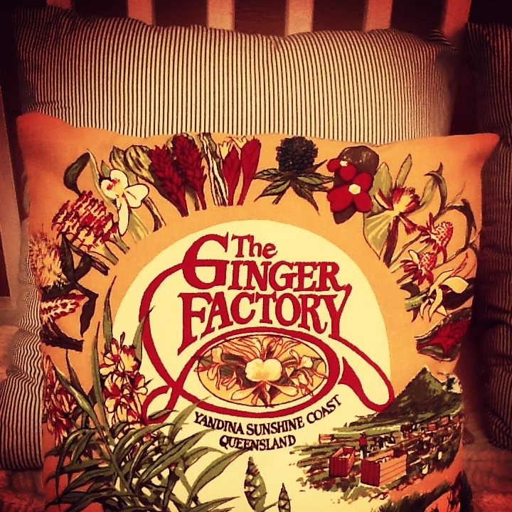 Vintage Australiana Tea Towel Cushion  etsy.com/shop/MittyMalou