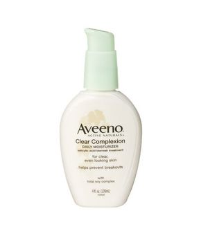 The Best Facial Moisturizers Under $50: Aveeno Clear Complexion Daily Moisturizer  If you break out, you know that acne-fighters can dry your skin due to their bacteria-fighting ingredients. Aveeno's lotion not only reduces blemishes, it hydrates as well.  To buy: $15, target.com.