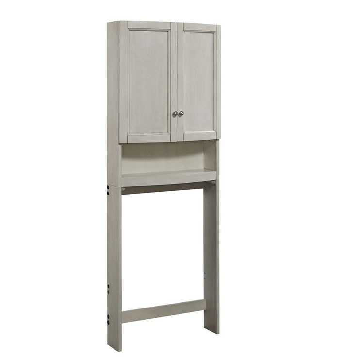 allen + roth Moravia Antique White Wall Cabinet 25-in ...