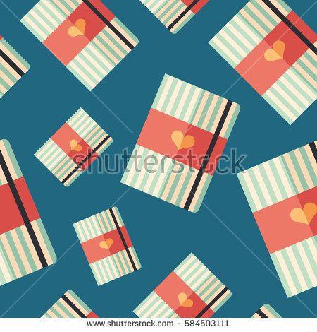 Notepad flat icon seamless pattern. #love #lovepattern #vectorpattern #patterndesign #seamlesspattern