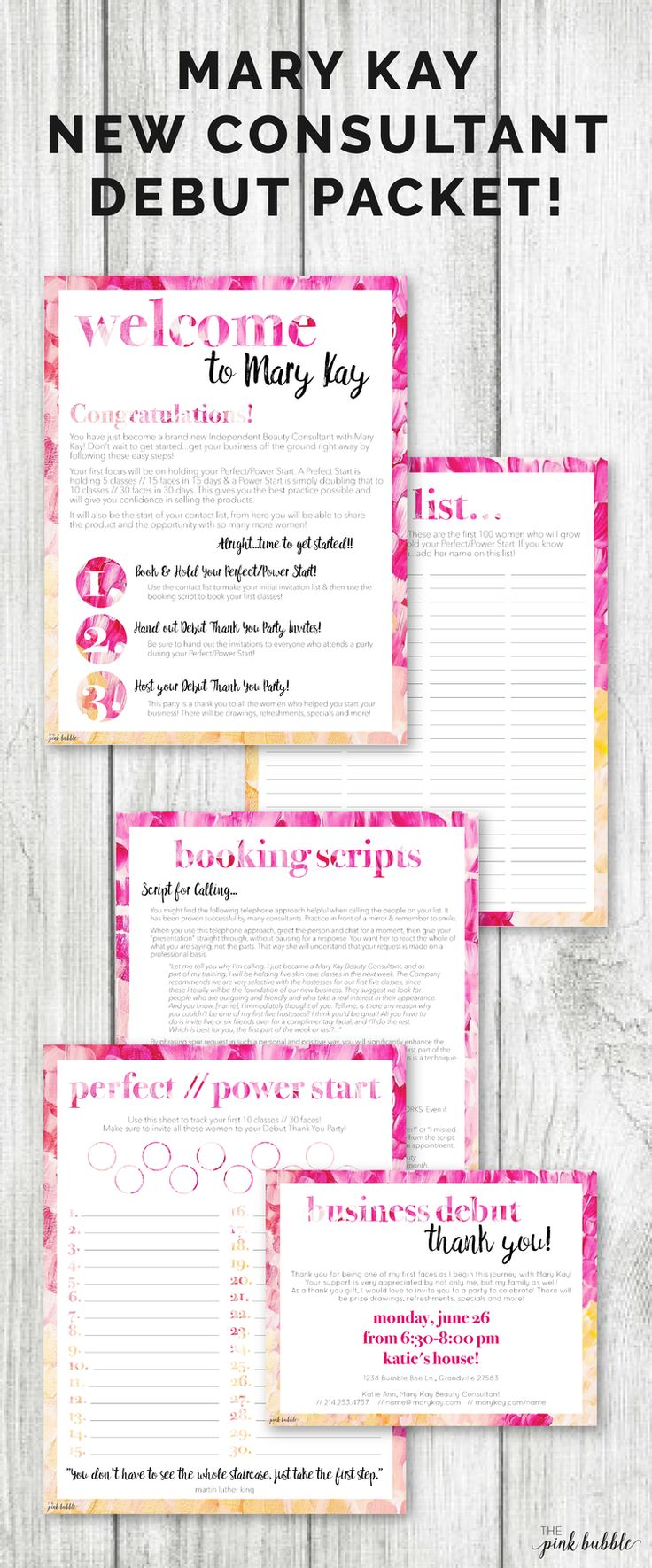 Mary kay online agreement on intouch - Mary Kay New Consultant Debut Party Packet Start Your Business On The Right Foot