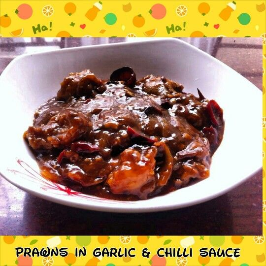 Prawns in Chilli and Garlic Sauce
