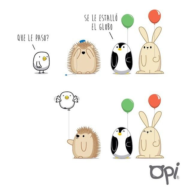 Se le estalló el globo #opi #cute #kawaii #ilustracion #illustration #draw #dibujo