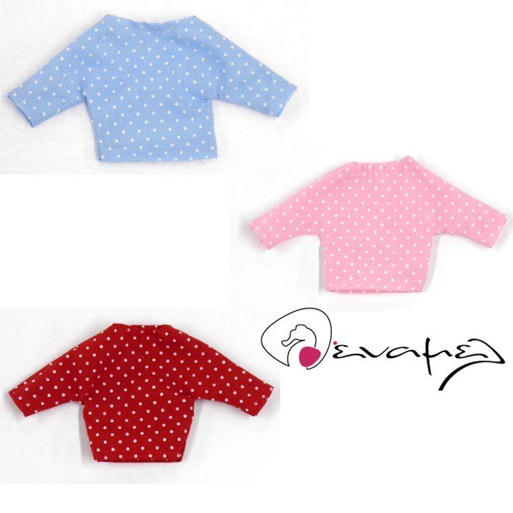 Κεράσματα γέννας μπλουζάκι πουά διαθέσιμο σε τρία χρώματα ροζ, σιέλ και κόκκινο…