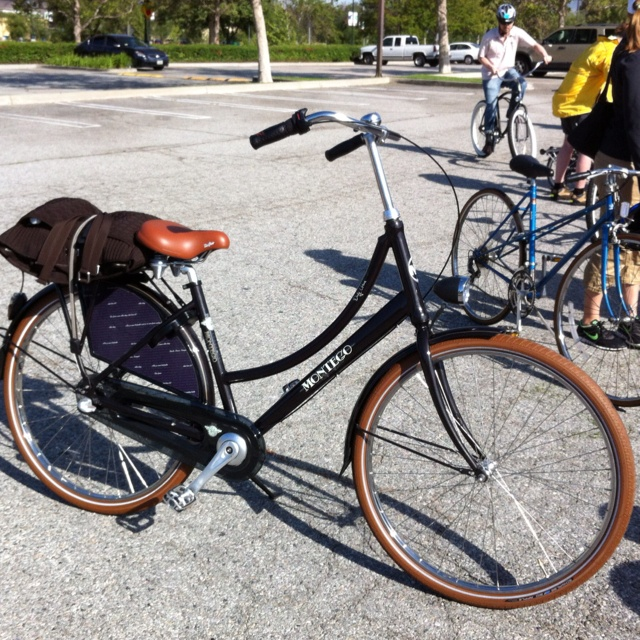 This is the coolest bicycle. It is a Dutch commuter bike
