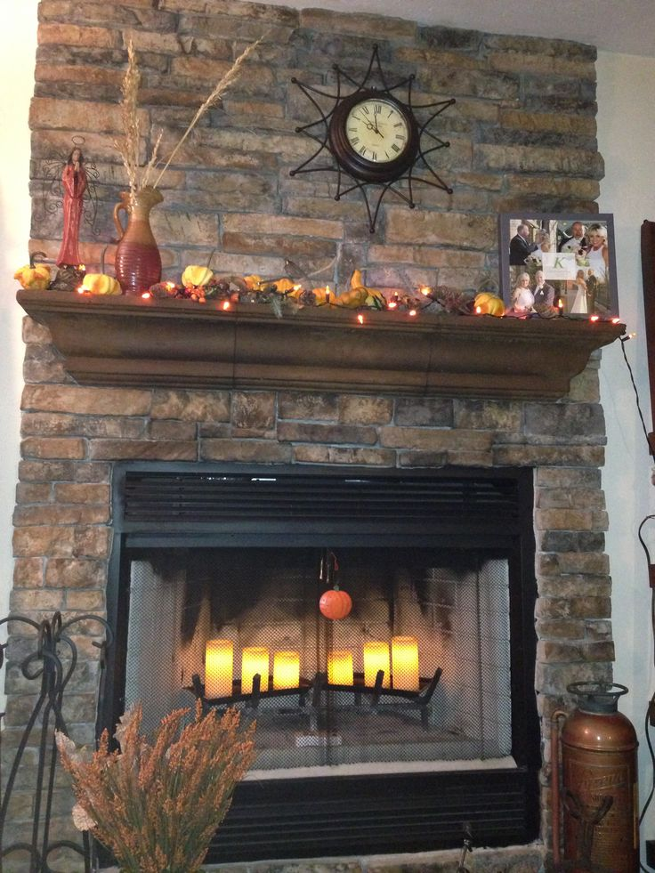 Fireplace Mantel Amp Electric Candles A Little Bit Country