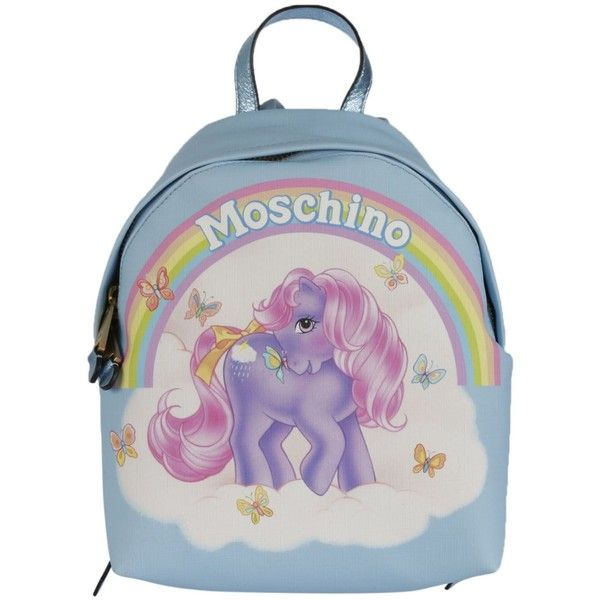 My Little Pony Backpack ($550) ❤ liked on Polyvore featuring bags, backpacks, azzurro, hardware bag, rucksack bags, daypack bag, polyurethane bags and top handle bags