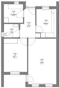 2 værelses lejlighed - Trenevej, 6400 Sønderborg