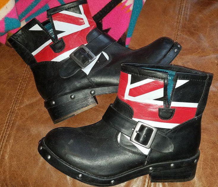 London Rebel buckle Biker short ankle boots size 8 unisex #Unbranded #Boots