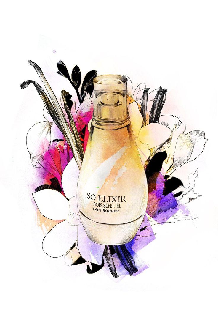 So Elixir Perfume illustration Yves Rocher Spiros Halaris