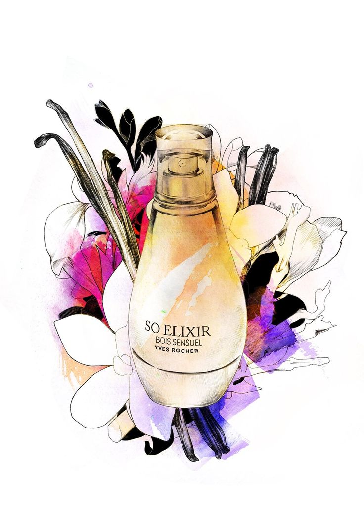 So Elixir Perfume illustration Yves Rocher Spiros Halaris